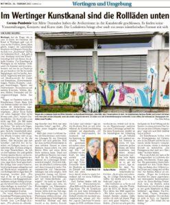 Artikel in der Wertinger Zeitung vom 24. Februar 2021
